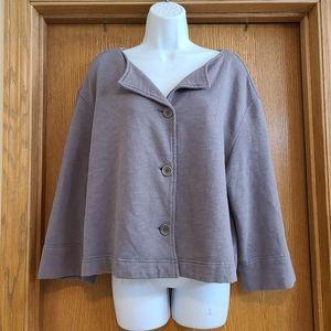 Oska Gray Lagenlook Shirt Jacket 3